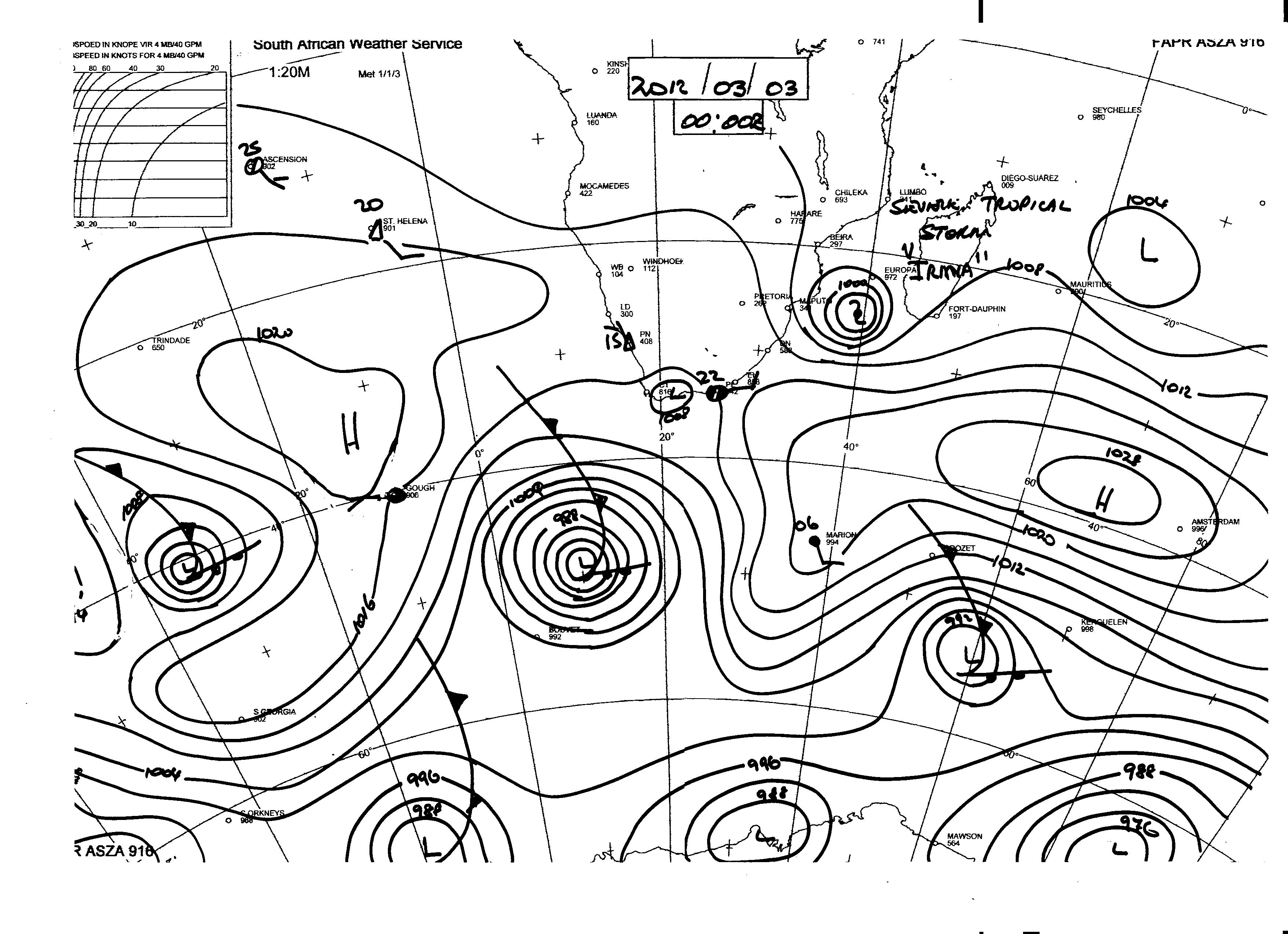 south african synoptic chart | Jeffreys Bay News