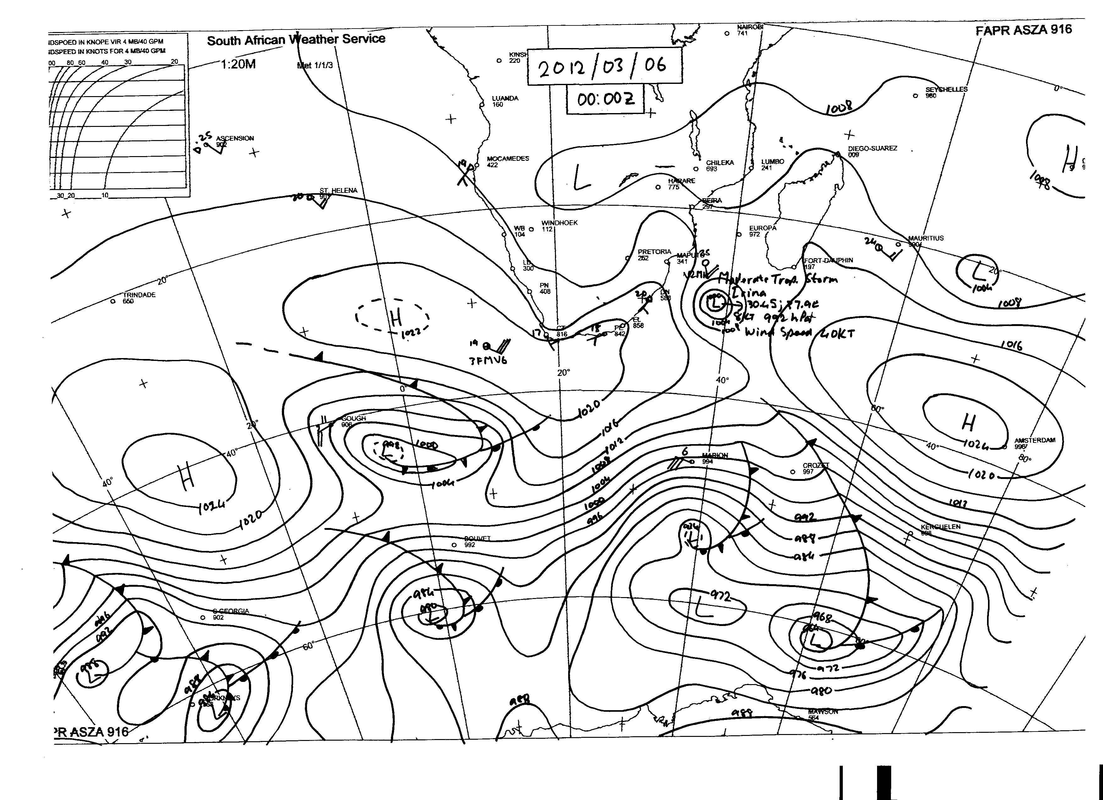 Synoptic Weather Map Of South Africa Map Of Africa