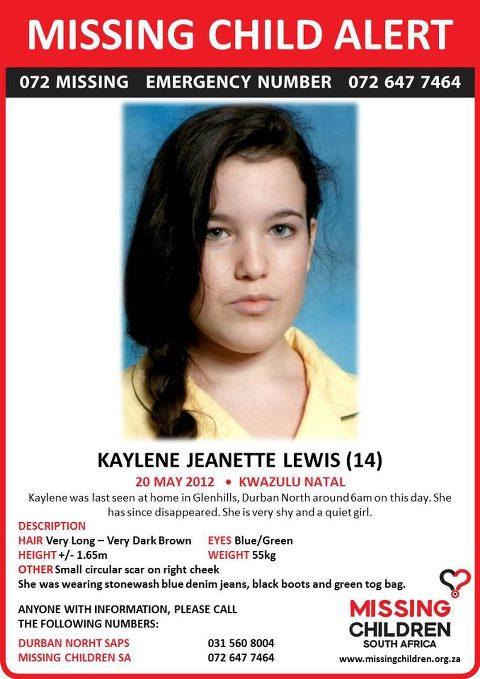 Missing girl: Kaylene Lewis | JBAY News